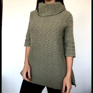 Fenn Wright Manson cowl neck olive green sweater